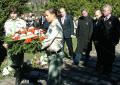 Koszorúzás a Gesztenyéskertben. 2008. március 15.
