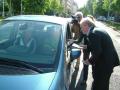 Szórólapozás a Zebrafest kampányban, 2009. április 28.