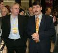 A hegyvidéki Sportmax megnyitóján Áder Jánossal. 2008. november 16.